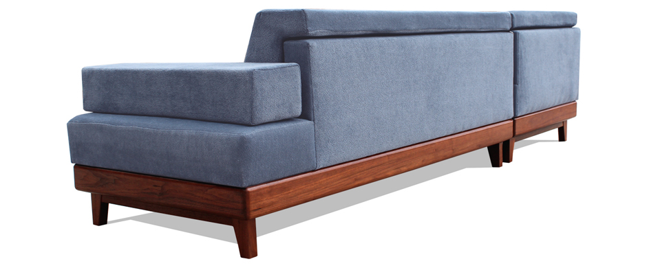 1112 Platform Sofa W Chaise South Of Urban Modern Sustainable Furniture Built By